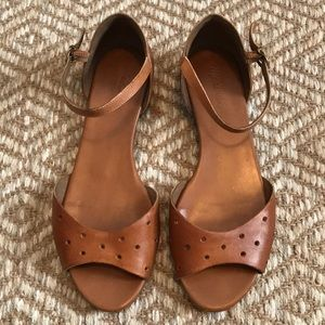 Madewell Hole Punch Leather Flats 8.5/9